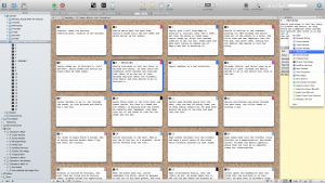 Corkboard in Scrivener