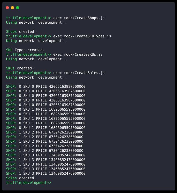 Mock data install